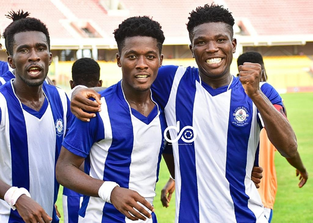 Abbey and Rhule score as Olympics stop Liberty in Accra