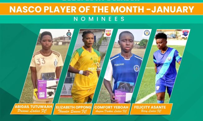 WPL: Four players nominated for NASCO Player of the Month Award - January