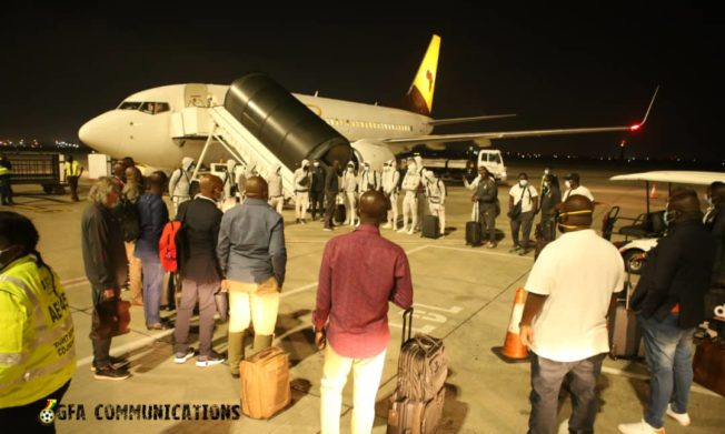 Black Stars arrive in Johannesburg for South Africa clash