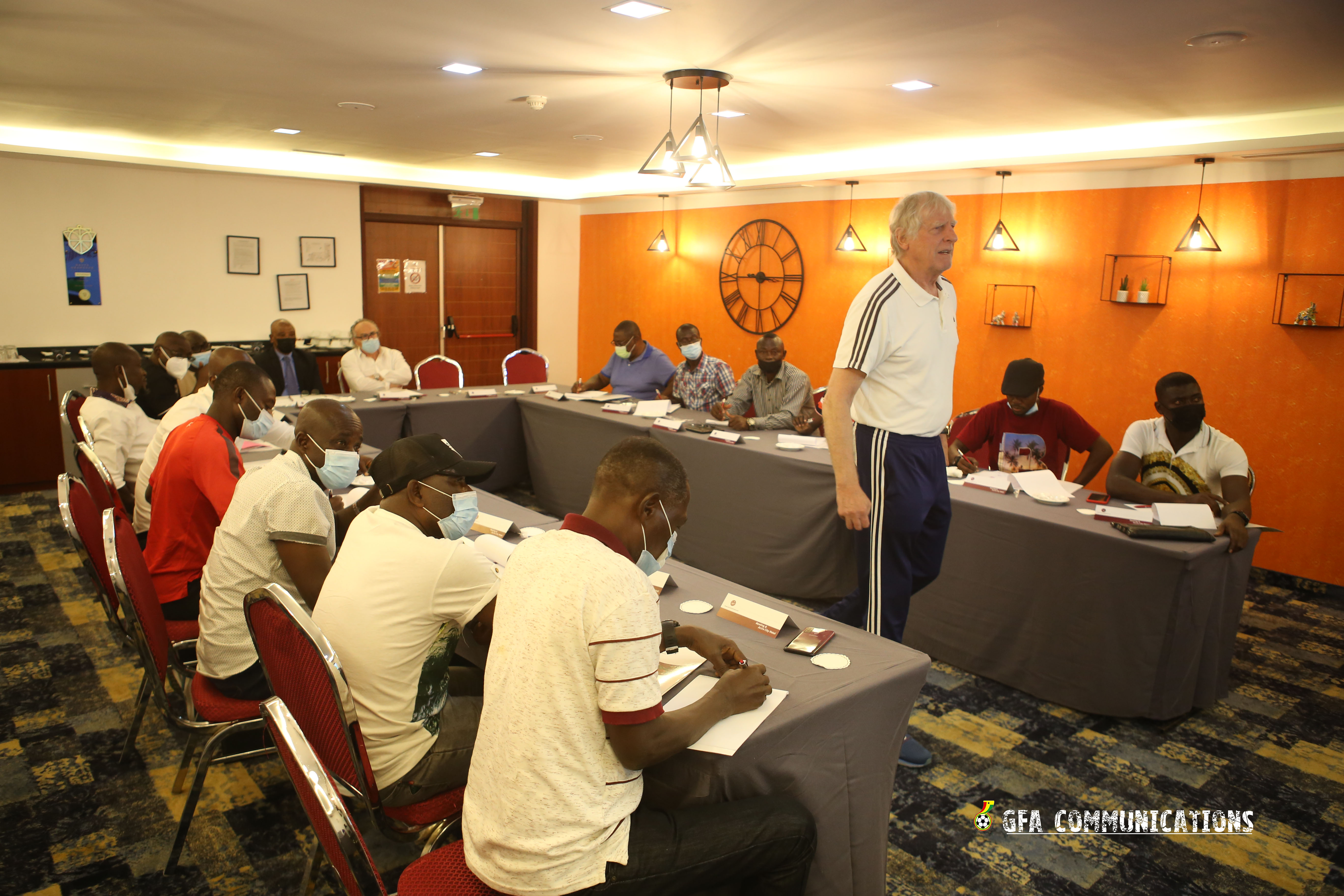 Pictures: GFA opens one week refresher course for male national team coaches