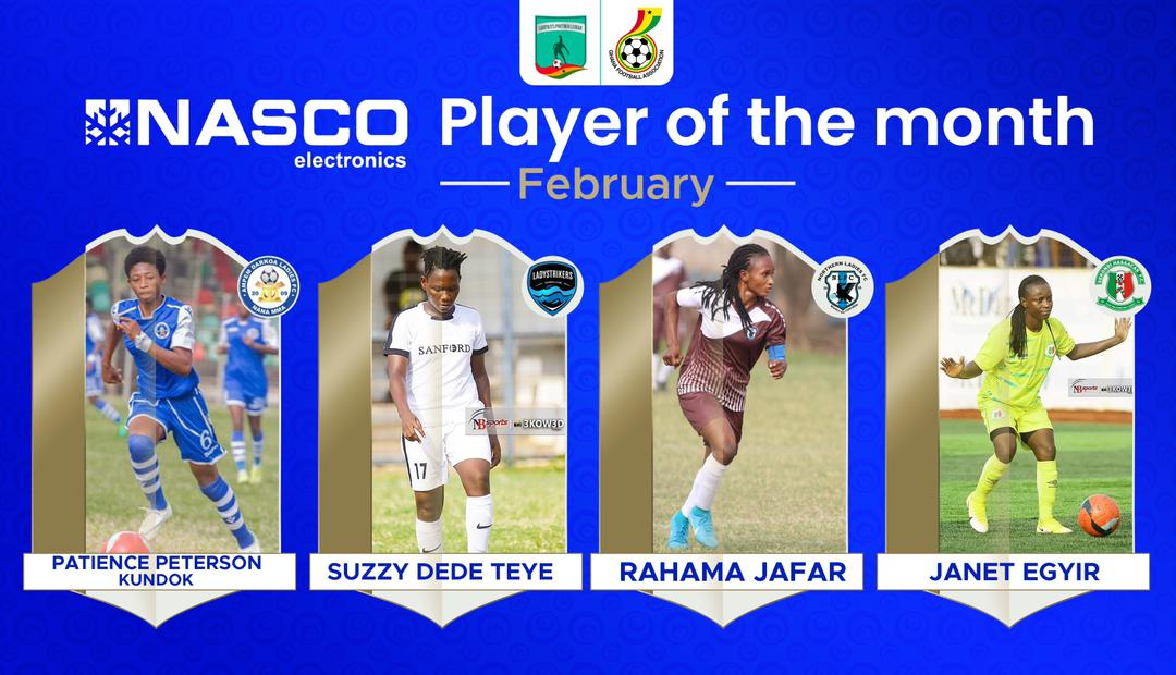 WPL player of the month for February nominees