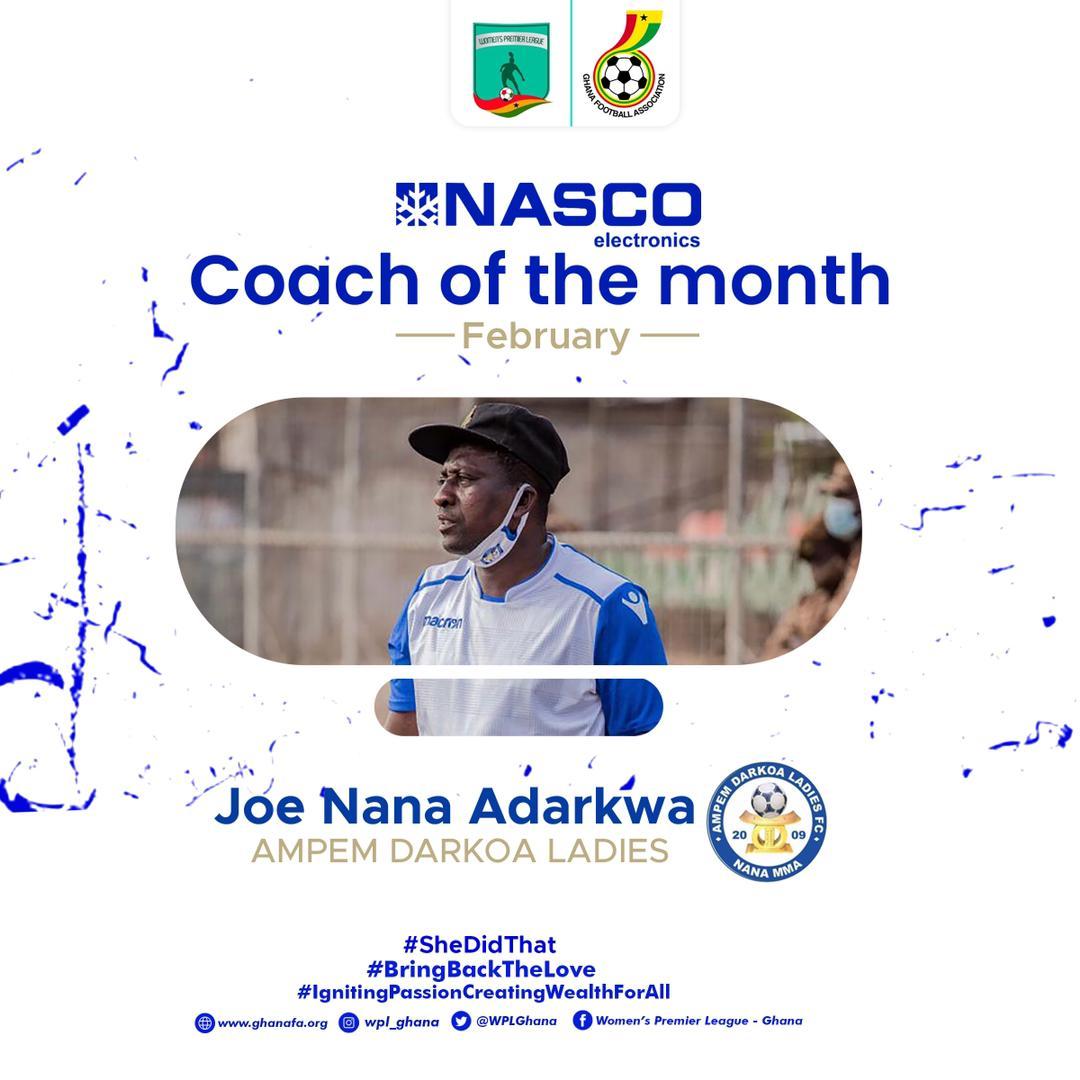 Joe Nana Adarkwa, Suzzy Dede Teye named WPL NASCO Coach and Player of the Month of February