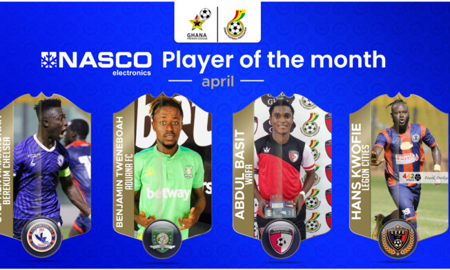 Four Players shortlisted for NASCO Player of the Month - April
