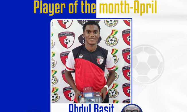 WAFA's Abdul Basit named as NASCO Player of the month- April