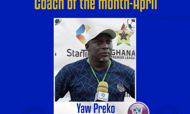 Yaw Preko wins NASCO Coach of the Month -April