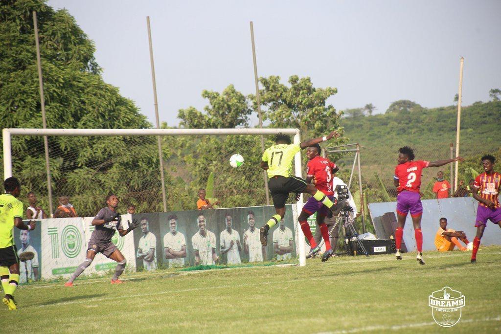 Dreams FC down Hearts of Oak at Dawu