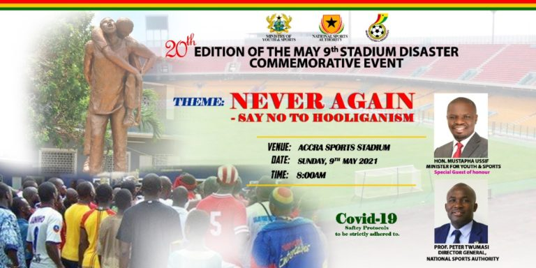 Clubs to observe minute's silence in honour May 9 Stadium disaster victims