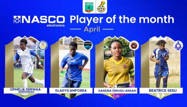 Serwaa Amponsah, Amfobea, Sesu and Owusu Ansah shortlisted for Player of the month for April