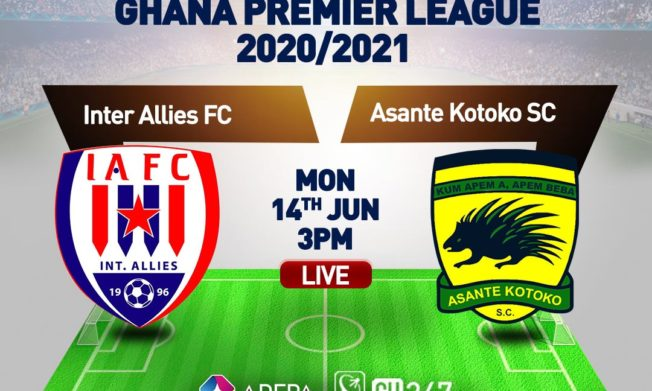 GPL Week 29 match between Inter Allies & Asante Kotoko moved to Monday