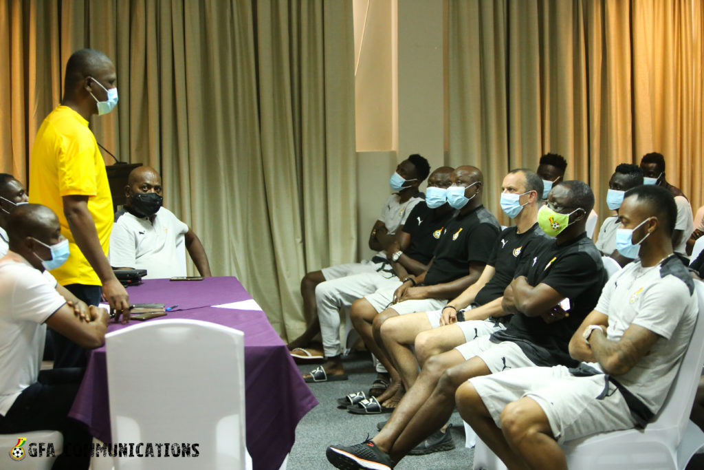 Mustapha Ussif visits Black Stars ahead of friendlies