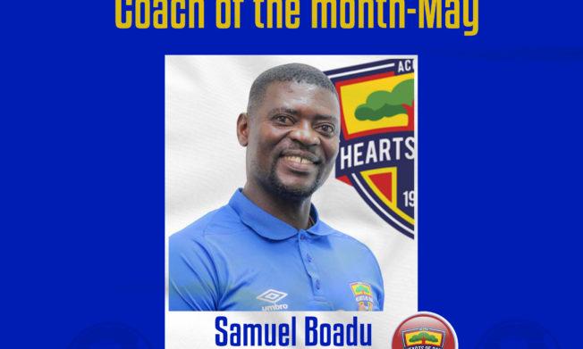 Samuel Boadu wins Coach of the month award