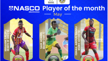 Nominees for NASCO Player of the Month - May