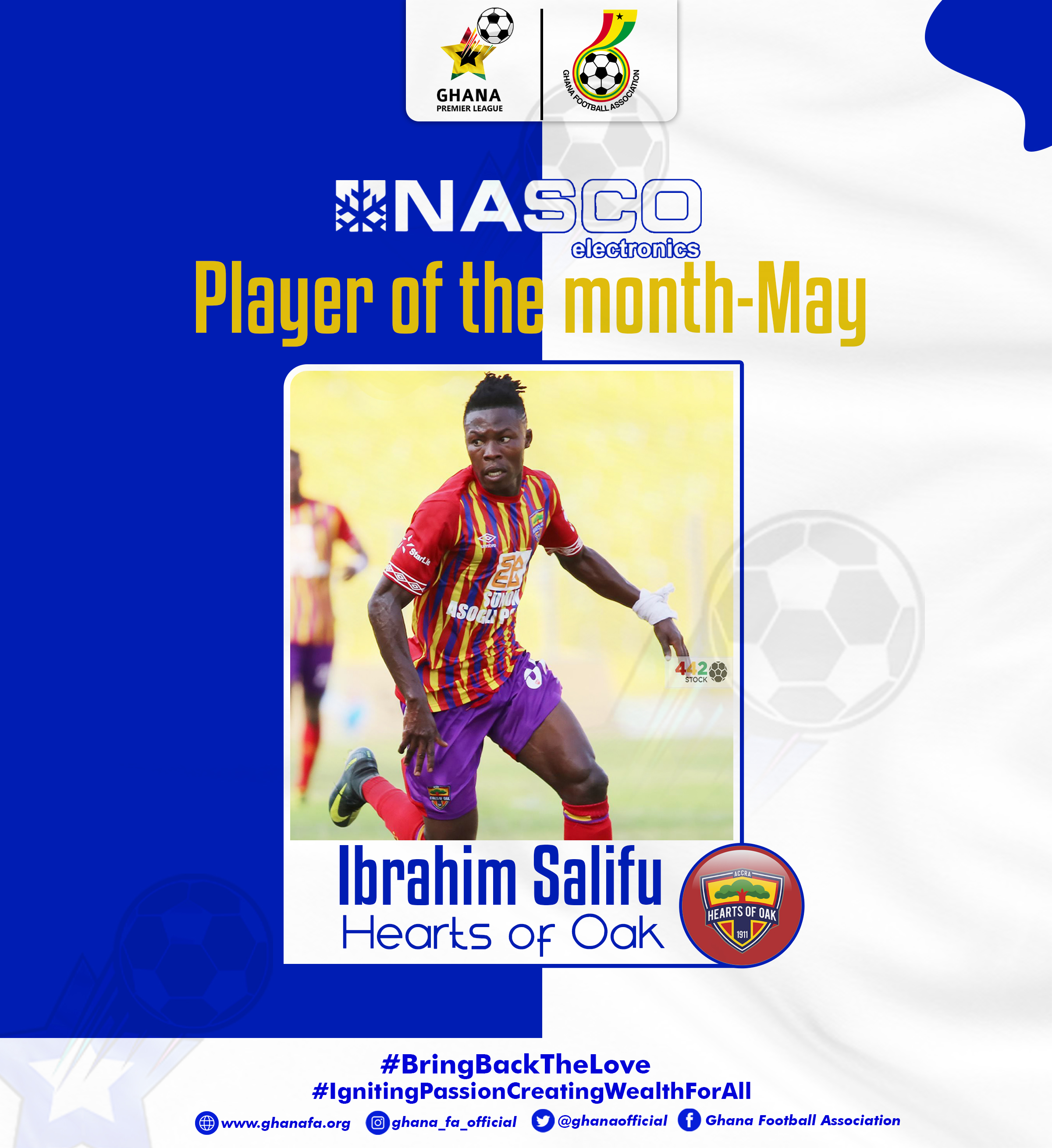 Ibrahim Salifu named NASCO player of the Month for May