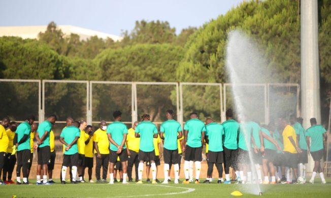 Pictures: Black Stars train in Rabat ahead of Morocco showdown