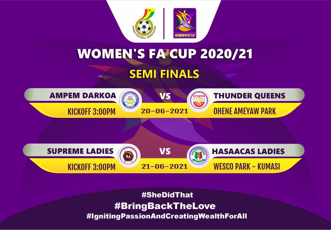 Match Officials for Women's FA Cup Semi-finals