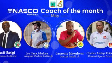 WPL: Adarkwa, Basigi, Mawulorm and Frimpong shortlisted for NASCO Coach of the month for May