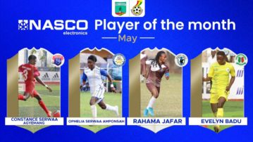 WPL: Four players nominated for NASCO player of the Month for May