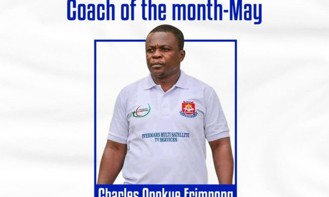 Charles Anokye Frimpong wins NASCO Coach of the Month for May