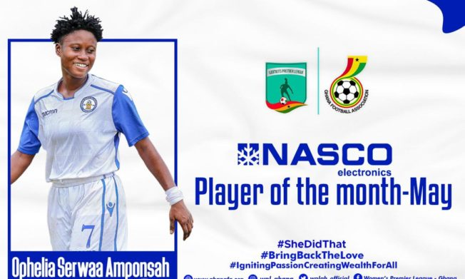 Ophelia Serwaa Amponsah is NASCO player of the Month for May