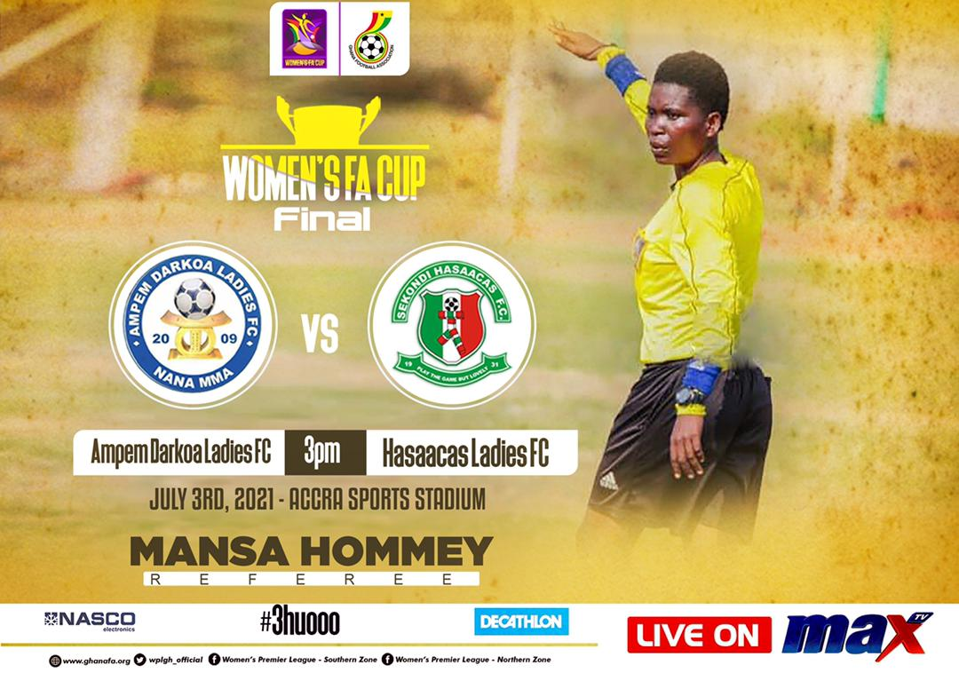 Mansa Hommey to officiate Women's FA Cup final