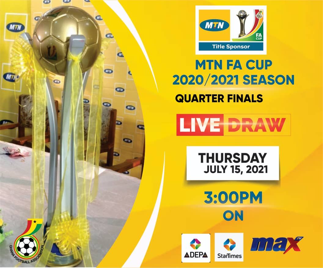 MTN FA Cup Quarterfinals draw to be staged on Thursday