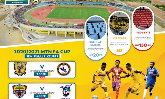 Gate fees for MTN FA Cup semi-final matches