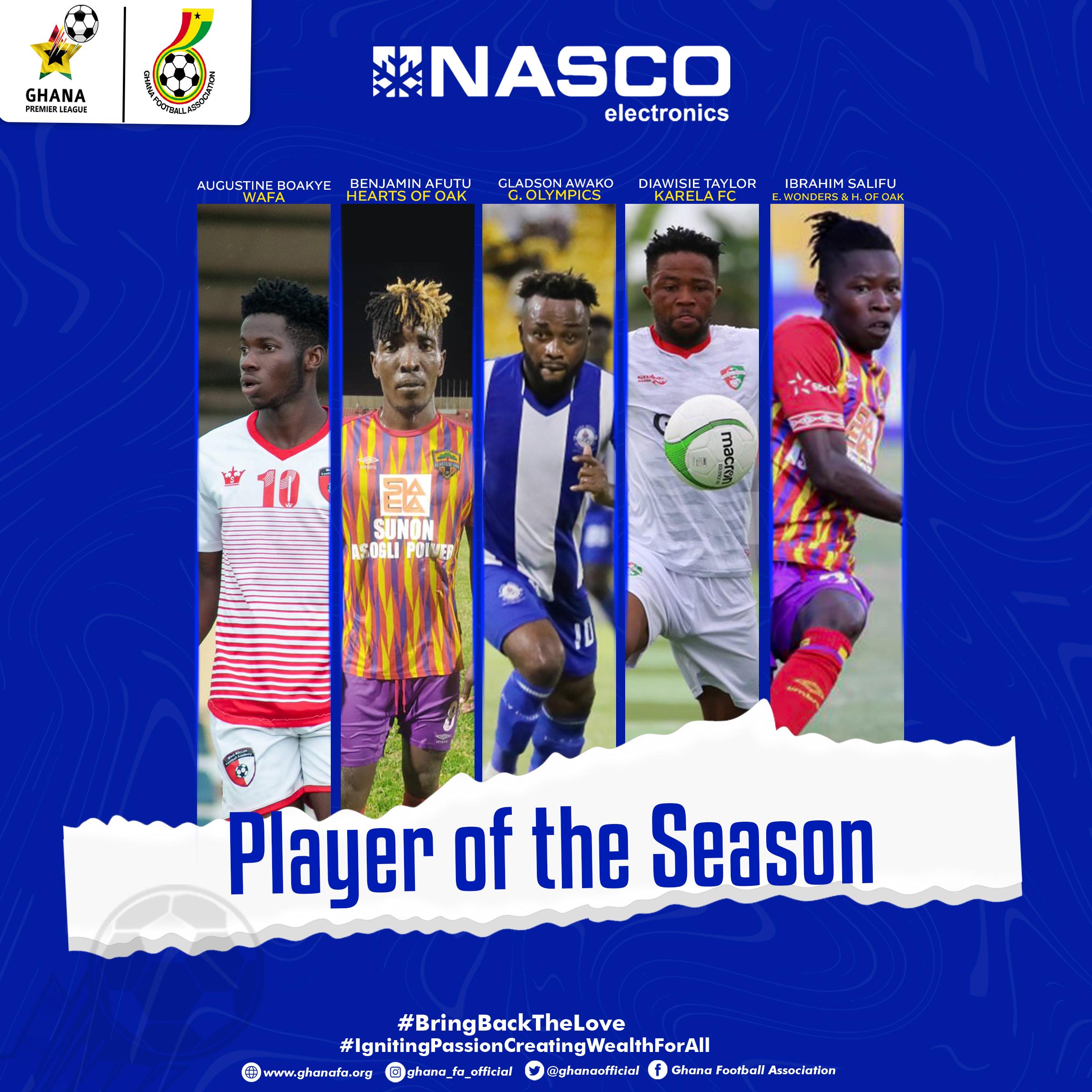 Shortlist for NASCO GPL Player of the season announced