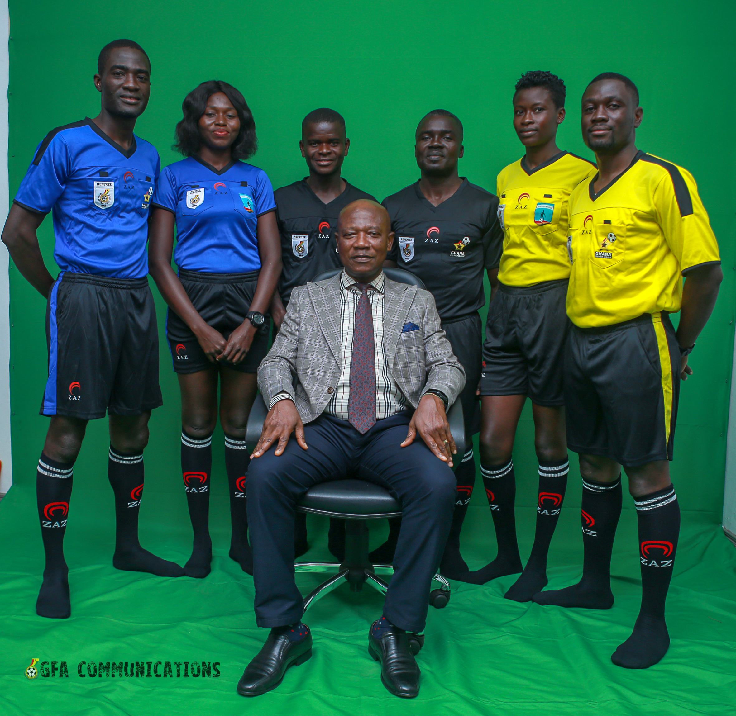 GFA takes delivery of referees' kits from sponsor ZAZ Produkte