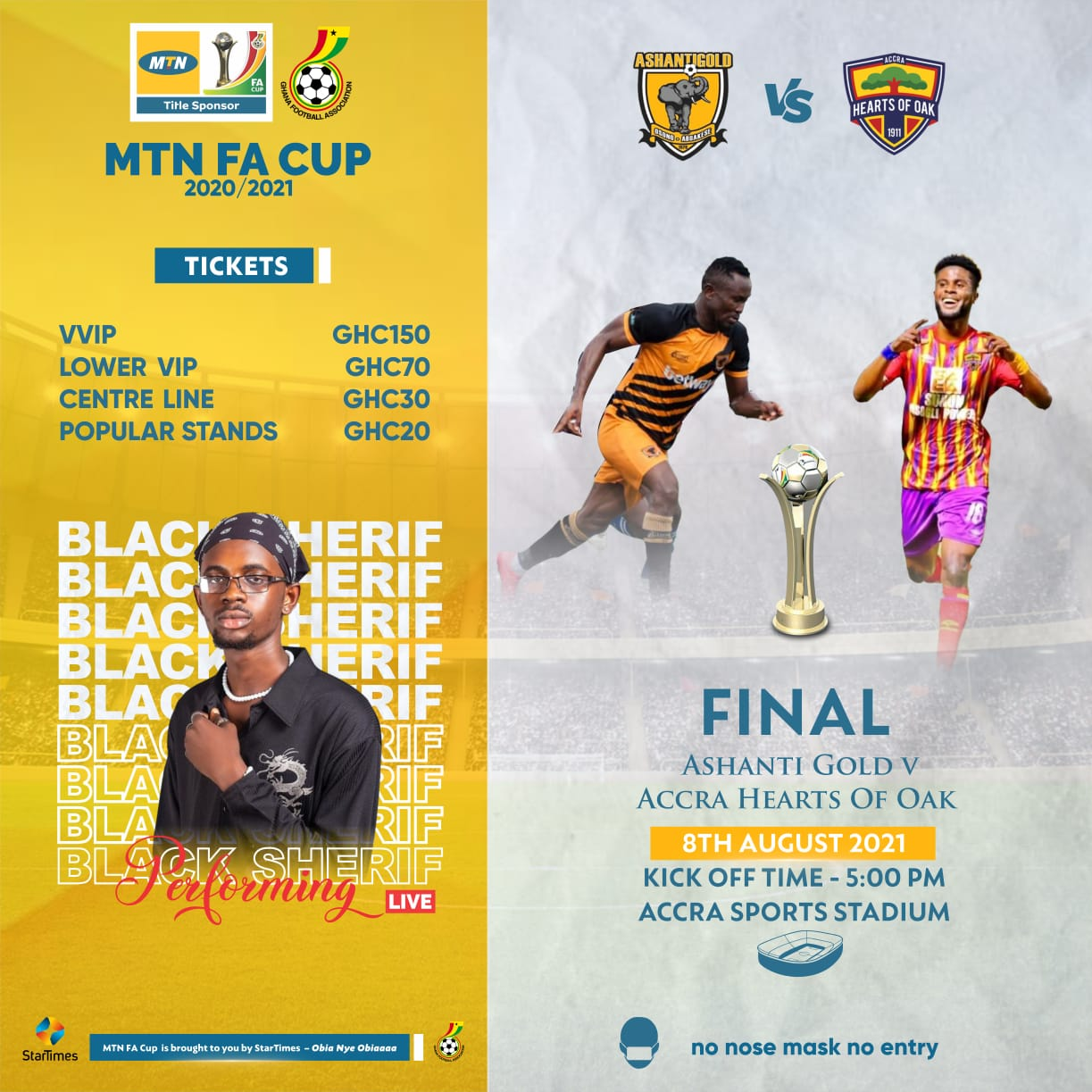MTN FA Cup final: Tickets on-sale via MTN E-ticketing platform