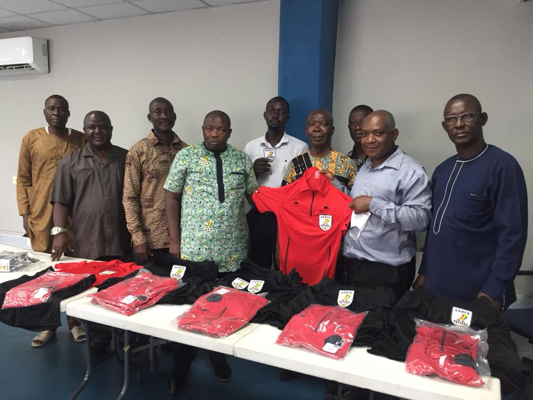 Division Two Middle League: Greater Accra Regional Football Association presents kits to referees