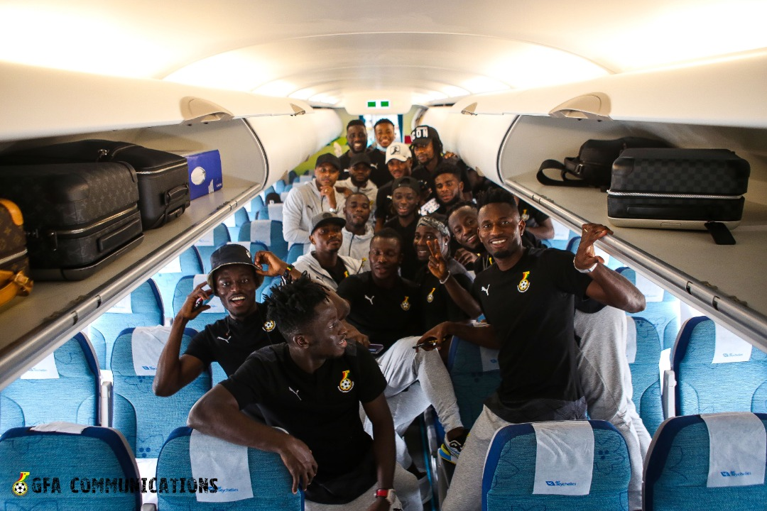 Ghana touches down in Johannesburg ahead of South Africa duel