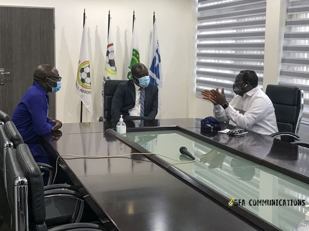 Sierra Leone FA Vice President Harold Nat –Johnson visits GFA