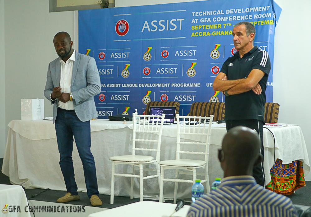 GFA and UEFA Assist end three day capacity building programme for Premier League coaches