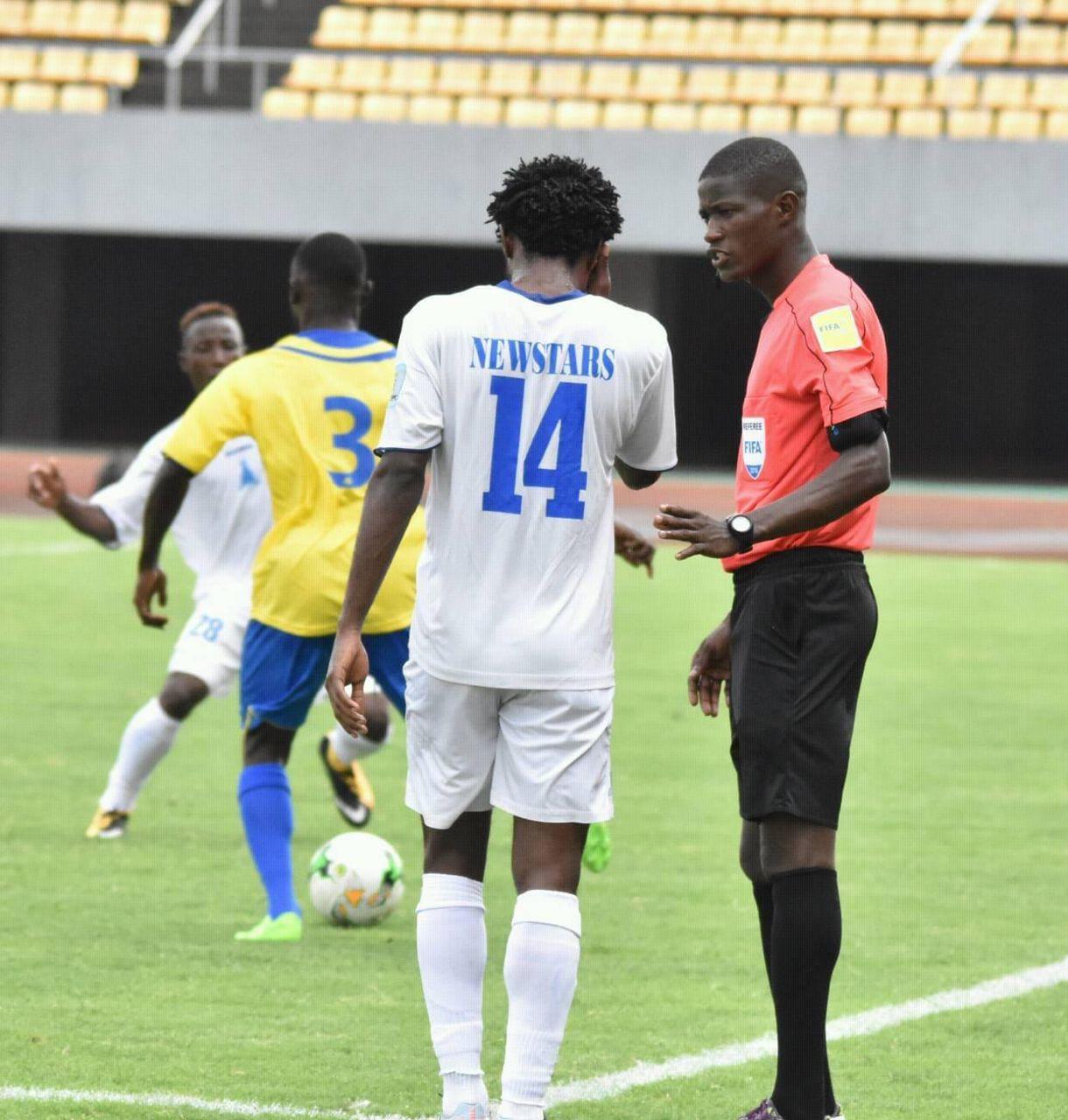 Atcho Ghislain officiates Ghana against Zimbabwe in Cape Coast