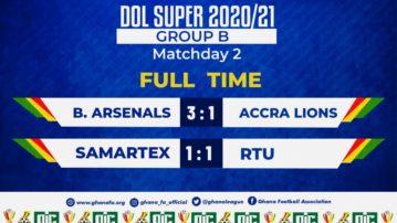 Division One League Super Cup: Samartex hold giants RTU