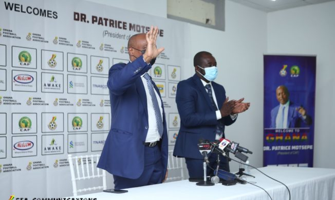 PHOTOS: CAF President Dr. Patrice Motsepe day with the press in Accra