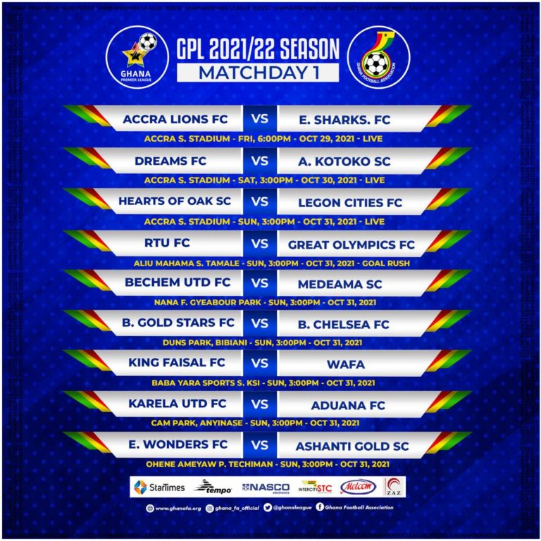 Premier  League kicks off with Friday Night Football : Accra Lions hosts Elmina Sharks in Accra